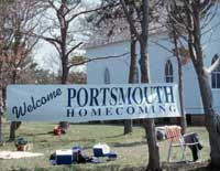Portsmouth Homecoming Welcome banner