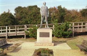 Statue of French fleet Admiral deGrasse at Cape Henry Memorial