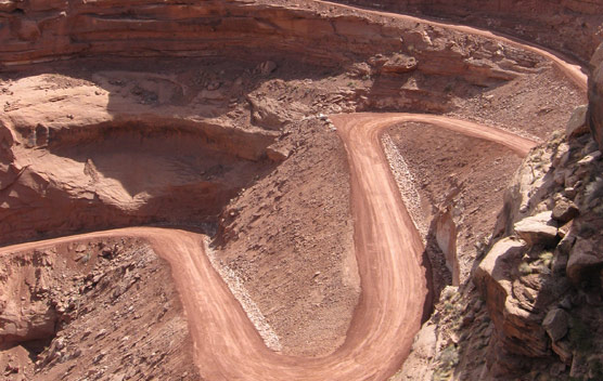 The newly repaired Mineral Switchbacks