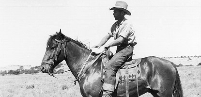 photo: Ned Chaffin near Waterhole Flat (circa 1938)
