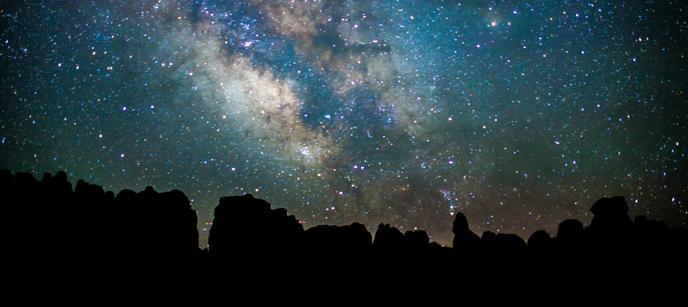 Canyonlands national park night