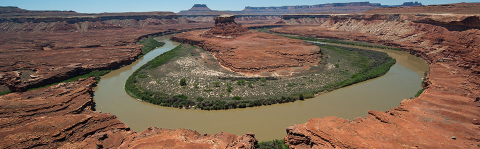 an oxbow in the Green River