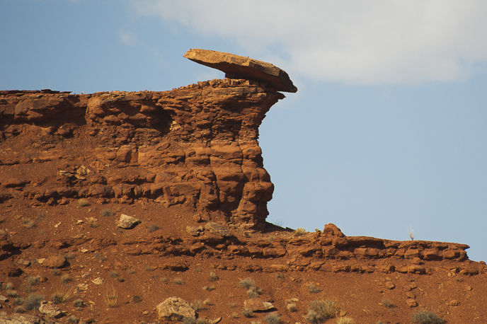 Balanced rock in the Moenkopi Formation.