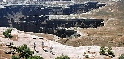 photo: Hikers on the Grand View Point Trail