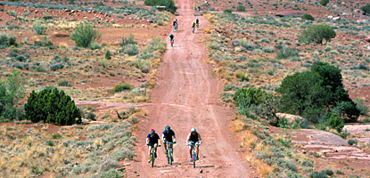 photo: Mountain bikers on the White Rim Road