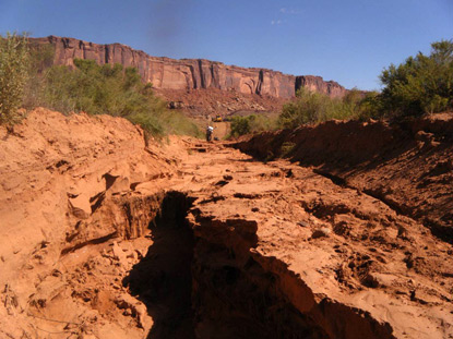 Road washouts around Upheaval Canyon.