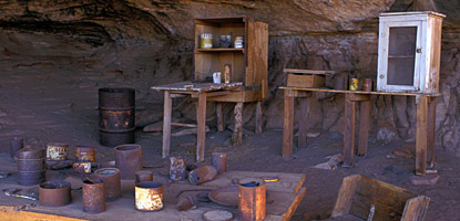 photo: Artifacts at the Cave Spring Cowboy Camp