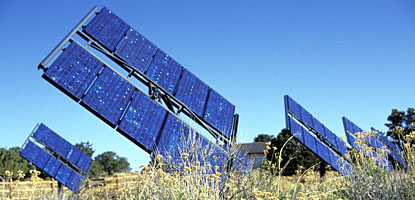 photo: The solar array at Hans Flat