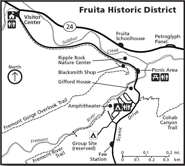 map of the Fruita Historic District