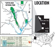 Location Map of Capitol Reef National Park and Glen Canyon National Recreation Area
