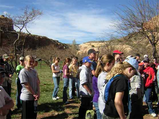 Students from Wayne Middle School participated in a four-hour service project clearing the Historic Fruita Orchards of pruning debris last week.