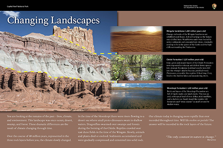 Changing Landscapes wayside exhibit