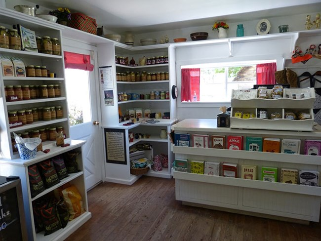 Snacks and canned goods at the Gifford House Store and Museum