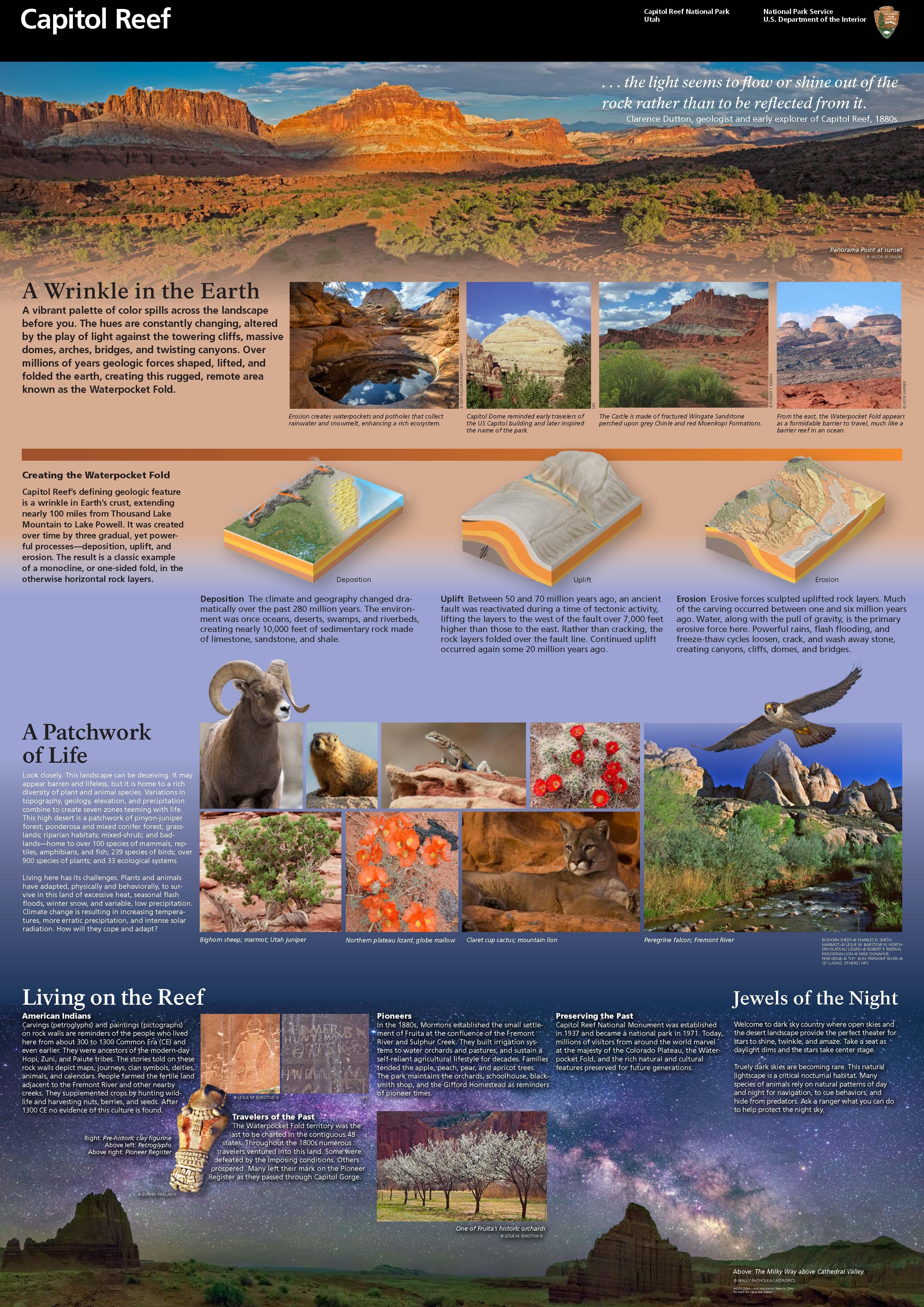 Brochures Capitol Reef National Park US National Park Service