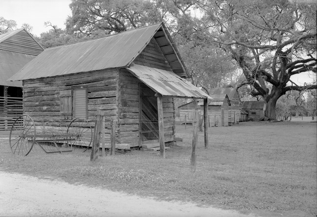 Carpenter shop built of hand-hewn cypress