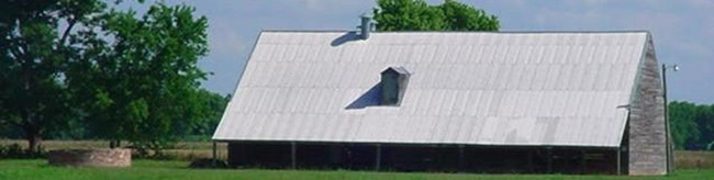 Cotton Gin Barn at Magnolia Plantation at Cane River Creole National Historic Site