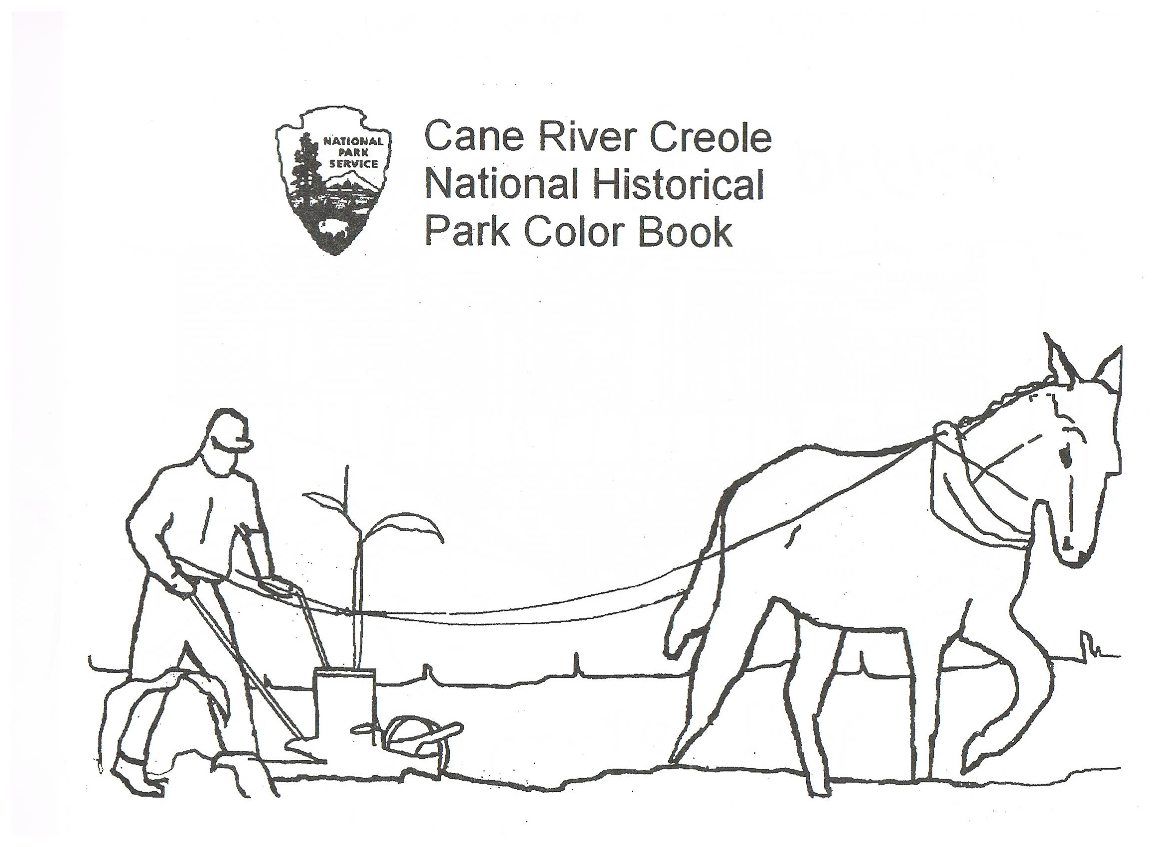 Coloring Pages Cane River Creole National Historical Park U S National Park Service