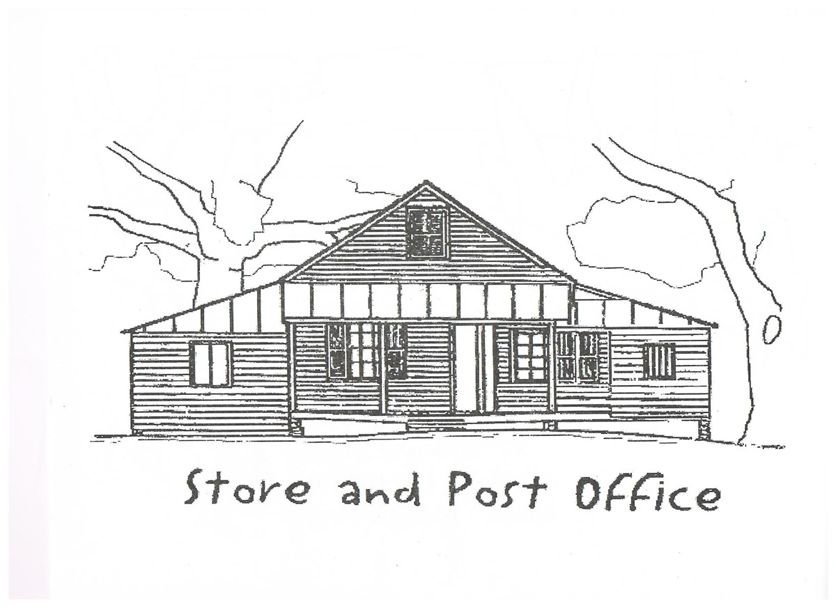 Drawing of the Oakland Plantation Store.