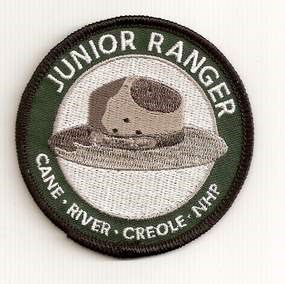 Round Cane River Creole NHP Junior Ranger patch