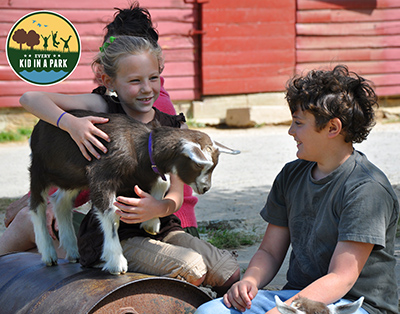 Young visitors enjoy time at the Sandburg farm