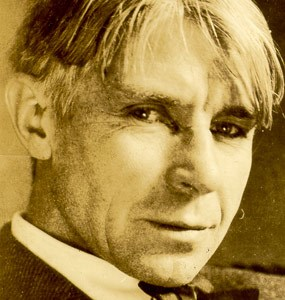 photo of Carl Sandburg as young poet, photographer unknown, circa 1920s