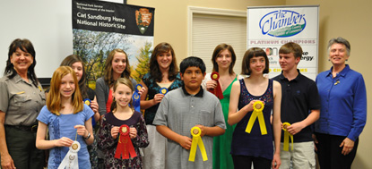 Student Poets Recognized at the 2011 Carl Sandburg Poetry Contest Reception