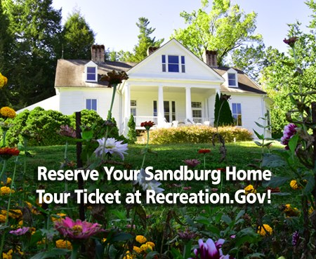 Reserve your Sandburg Home tour ticket at recreation.gov