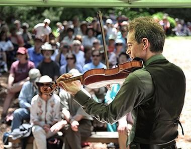 Jamie Laval performs at Sandburg Folk Fest