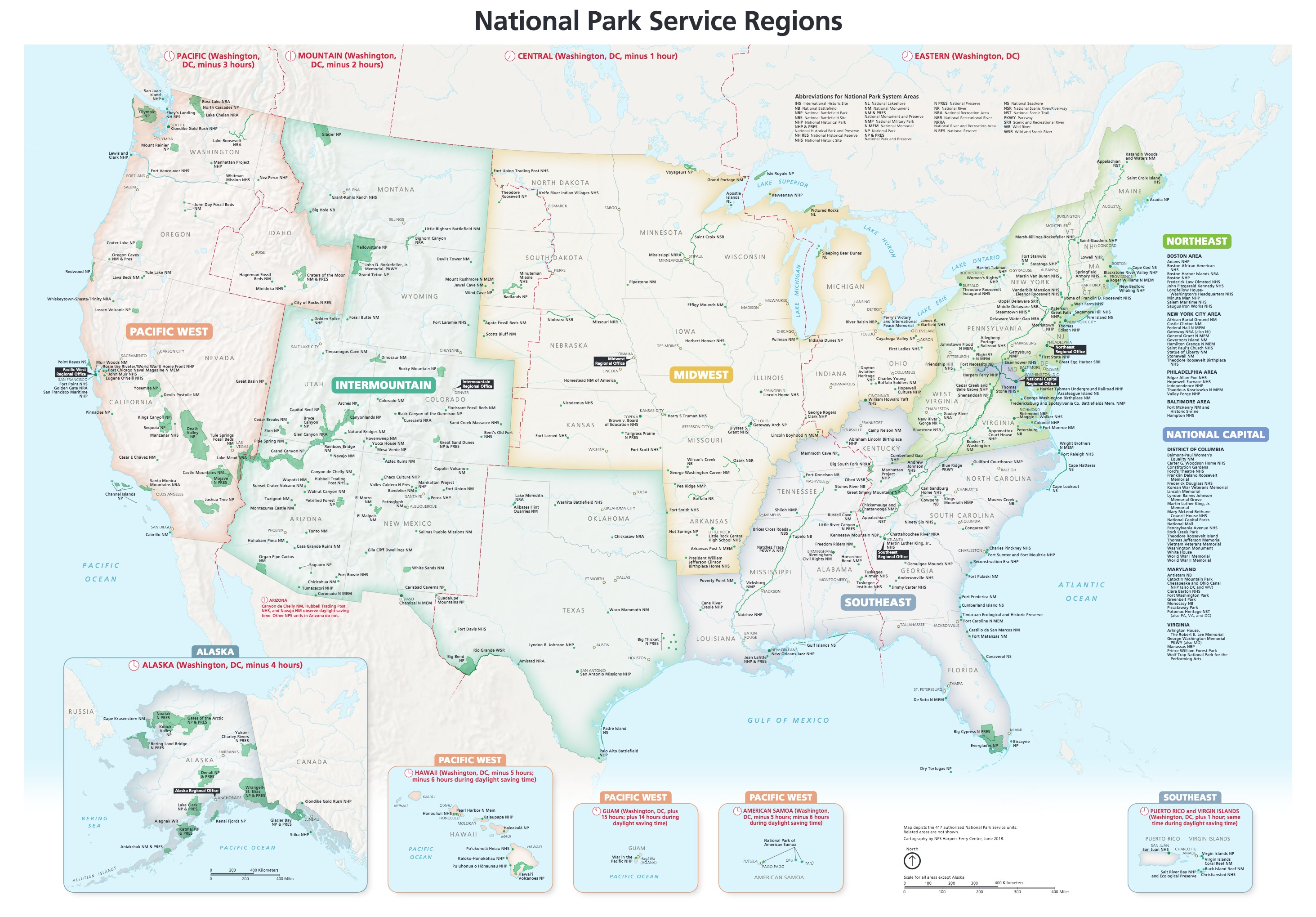 National Parks Map on