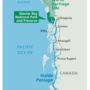 Inside Passage Map - From Park Brochure