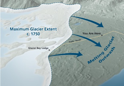 Glacial Outwash Map - From Wayside Exhibit