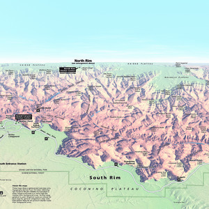 South Rim Panorama Map - From park brochure