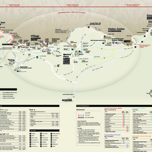 Getting Around The South Rim Map - supplemental map