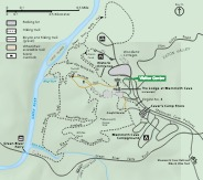 Visitor Center Detail Map - From park brochure