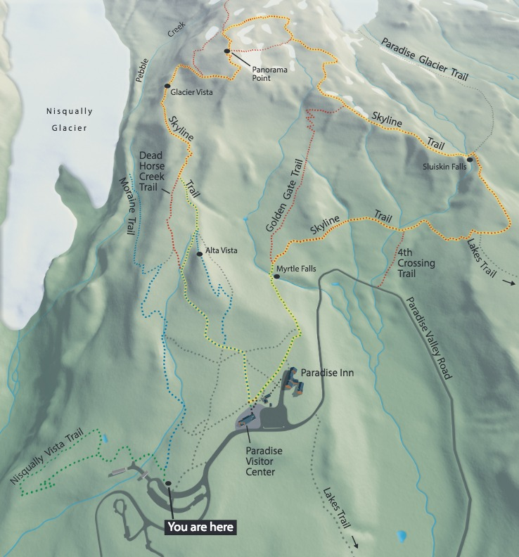 Paradise Trails Map - From Wayside Exhibit