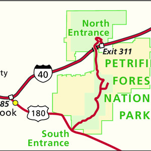 Area Map - Petrified Forest National Park