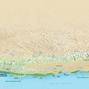 Redwood Range Perspective Map - From \