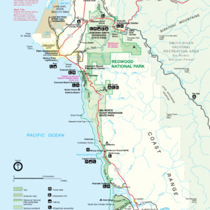 Redwood National And State Parks - North Detail Map - From \