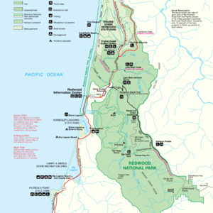 Redwood National And State Parks - South Detail Map - From \