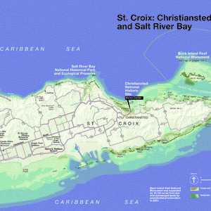 St. Croix Island Map - From \