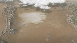 3D View Of White Sands Without Labels - From Wayside Exhibit (unpublished)