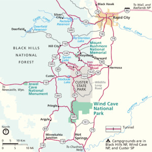 Area Map - Wind Cave National Park