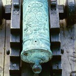 Early Spanish Bronze Cannons were emblazoned with the coats of arms of the Spanish King & Queen
