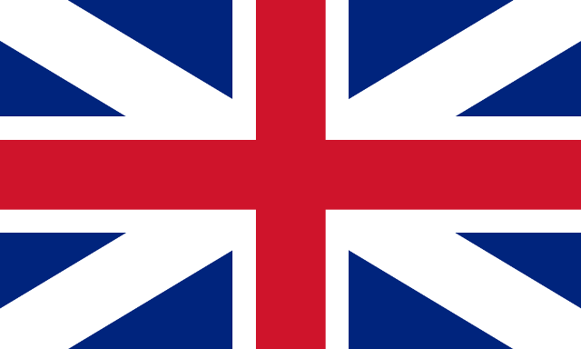 The British flag of the 1700s