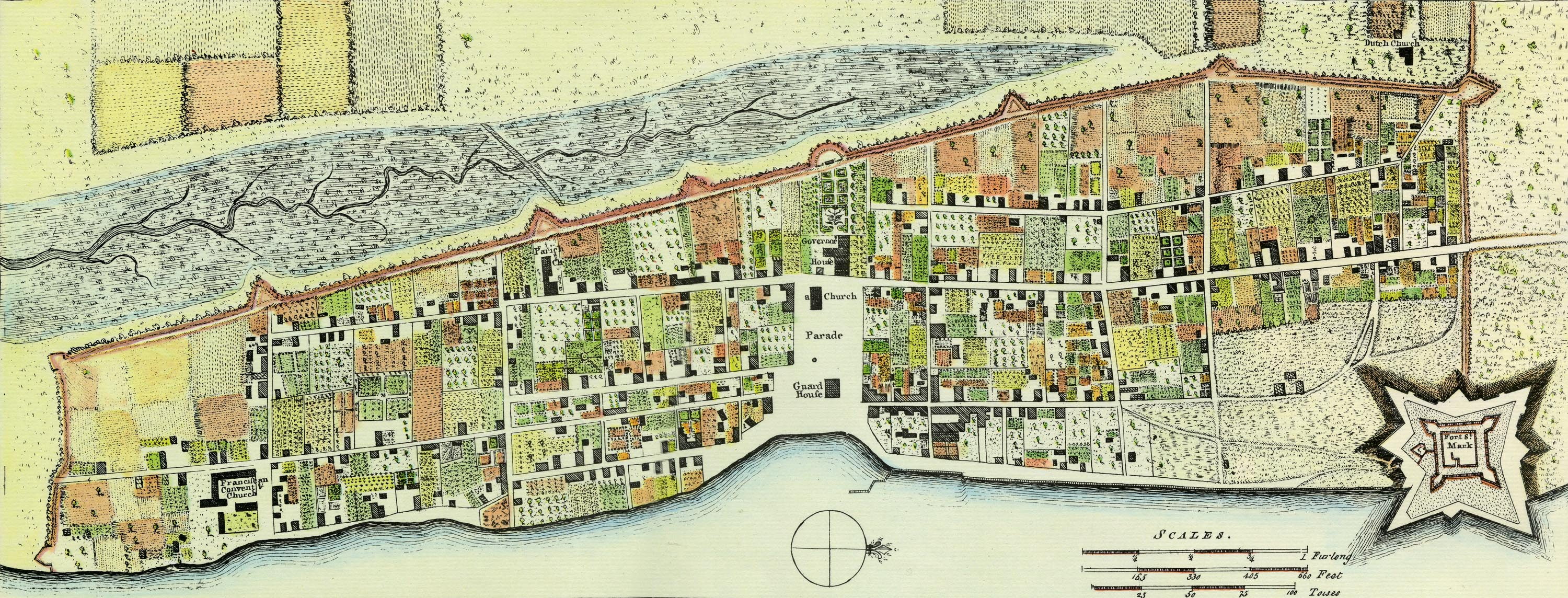 Map St Augustine Florida.The British Period 1763 1784 Castillo De San Marcos National