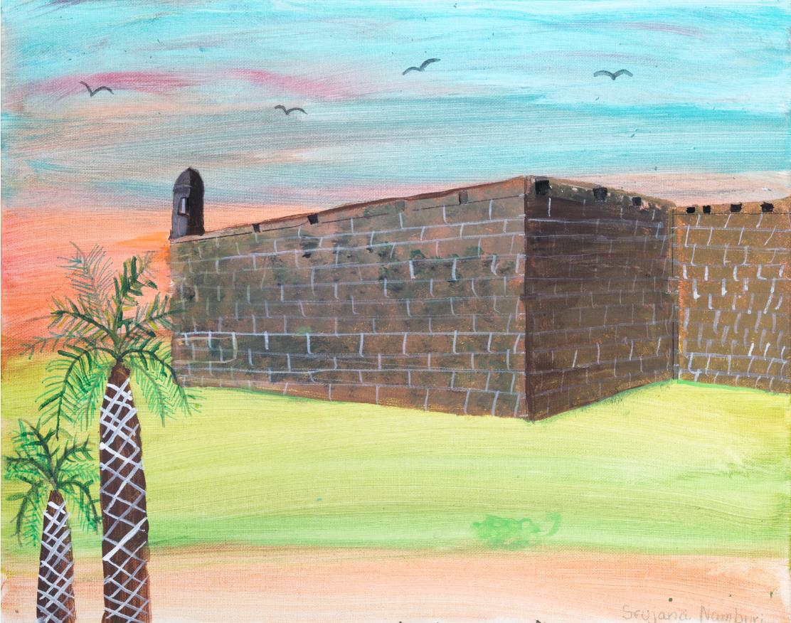 Student artwork of the Castillo
