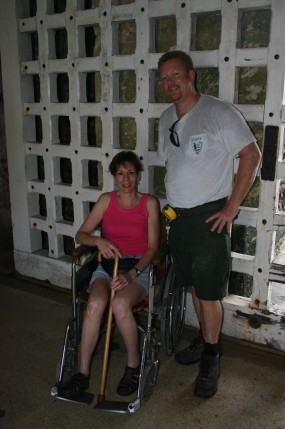 The Castillo is not fully accessible to persons in wheelchairs