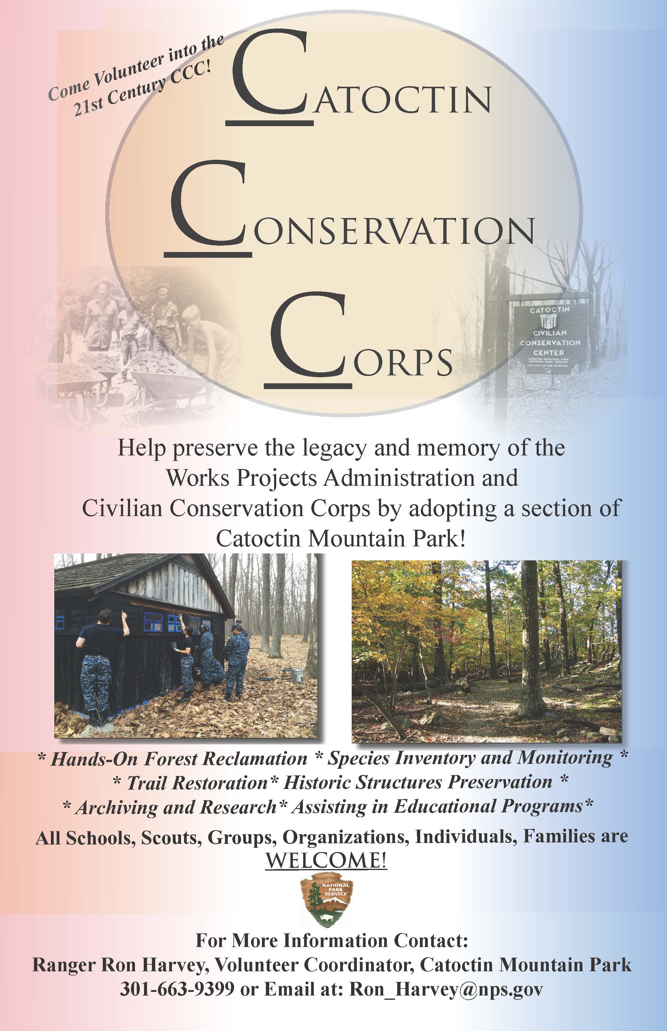 Image of Catoctin Conservation Corps Volunteer Poster