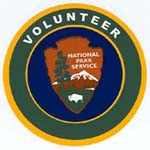 National Park Service volunteer patch with NPS arrowhead
