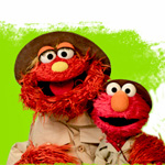 Picture of Elmo and Murray muppets in ranger uniforms
